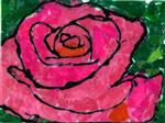 student artwork depicting a rose