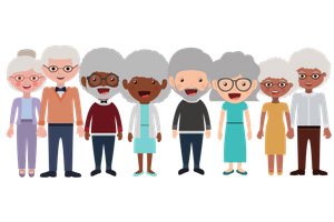 Clipart depicting cartoon images of grandparents